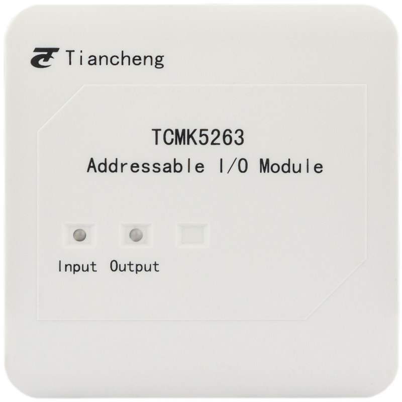 Addressable Single I/O Module Intelligent Input Output Module For Fire Alarm System LPCB Approved