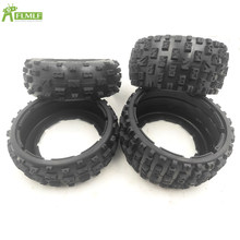 Upgraded Front & Rear Knobby Tyres Skin Set Fit for 1/5 Scale HPI Rofun Rovan KM Baja 5B SS RC CAR Toys Parts(China)