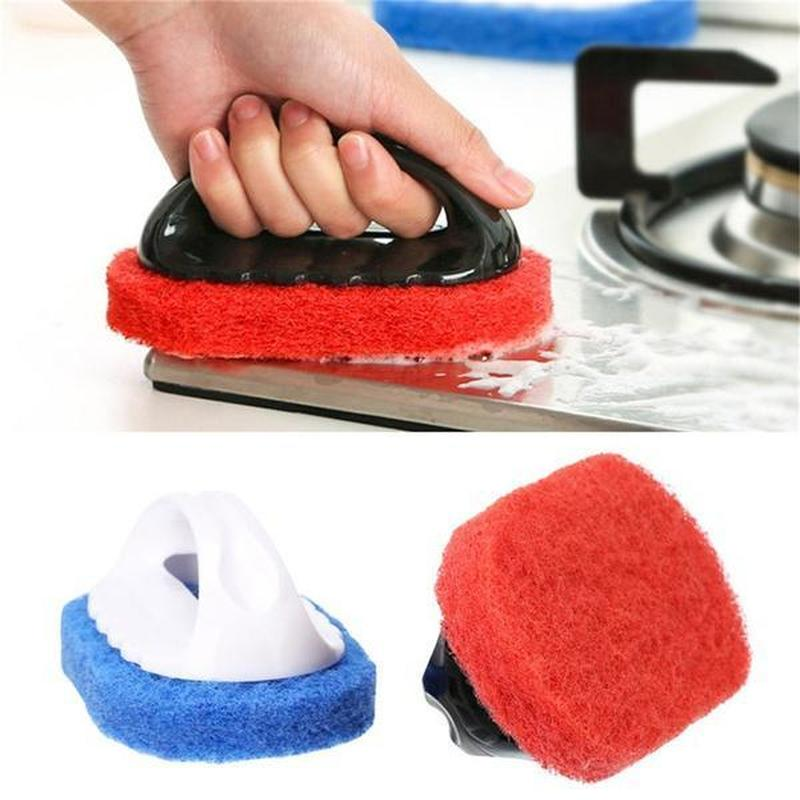 Kitchen Cleaning Brush Sponge Kitchen Strong Decontamination Sponge Cups Pot Bathroom Tiled Brush Cleaning Supplies
