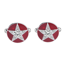 Geometric Black Enamel Cufflinks Pentagram Shape Rhinestone Cuff Links for Men Wedding Party Bussiness Jewelry стоимость