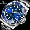 LIGE New Watches Mens Automatic Mechanical Tourbillon Clock Fashion Sapphire Glass 316L Steel 100 Waterproof Watch NH35 Movement