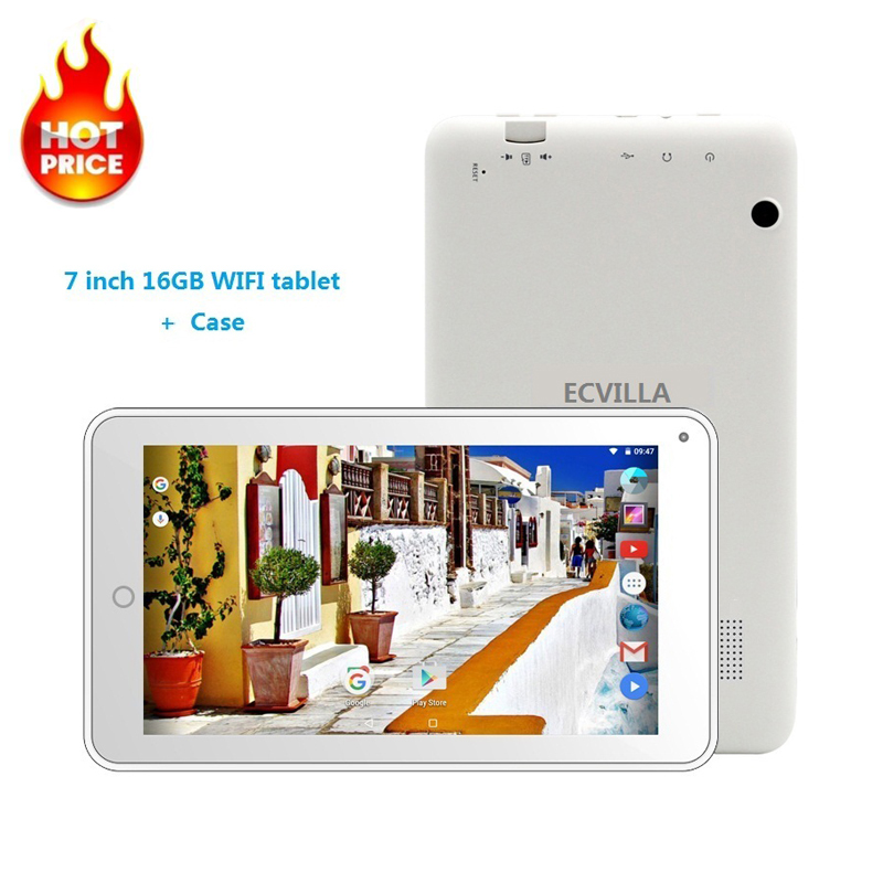 7 Inch Usb Wifi Android 7.0 Tablet Pc Quad Core 16GB 32GB TF Card IPS Cheap Kids Tablet Android Case Keyboard 8 9 10 Bluetooth