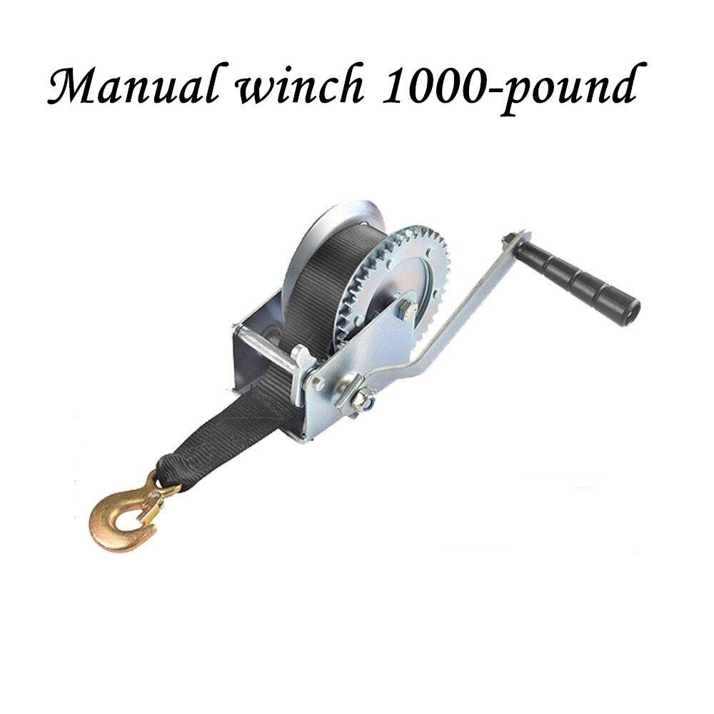 Manual Winch 1000-pound Nylon Rope Winch
