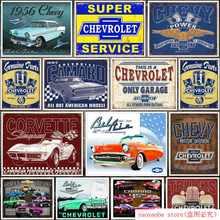 Desesperado Empresas Peças Pistões Chevrolet Genuíno Tin Pintura do Sinal do Metal Placa de Lata Wall Decor Retro Poster Pub Bar Lata