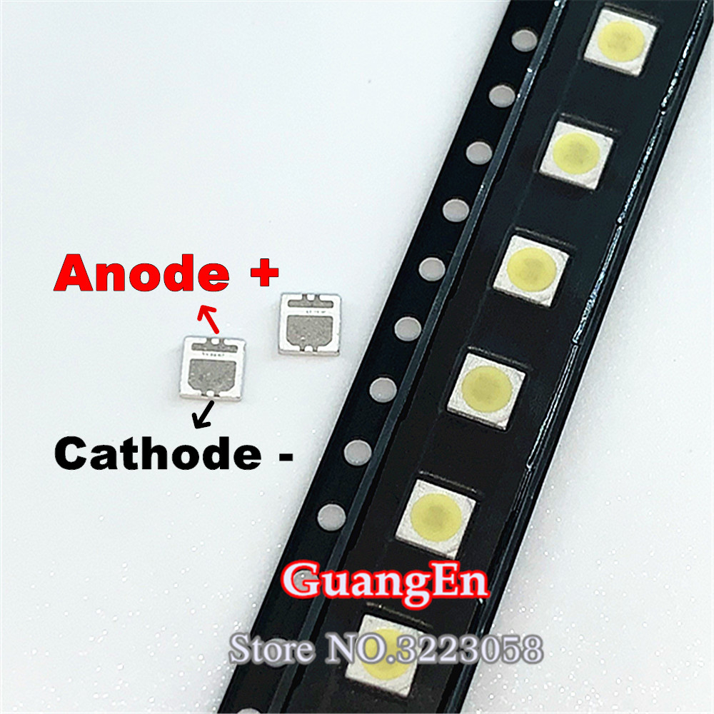 500PCS/Lot For SEOUL 3535 6V 2W SMD Cold White LED High Power For LCD/TV Backlight 135LM TV Application SBWVL2S0E