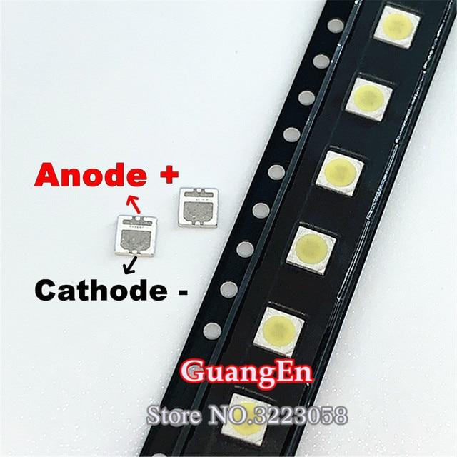 500PCS/Lot For SEOUL 3535 6V 2W SMD Cold White LED High Power For LCD/TV Backlight 135LM TV Application SBWVL2S0E
