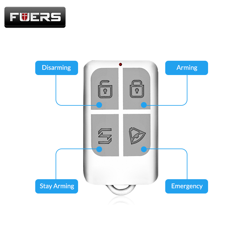 Wireless Home Alarm Remote Control Keychain Detector For Kerui Touch Keypad Panel GSM PSTN Home Security Burglar Alarm System