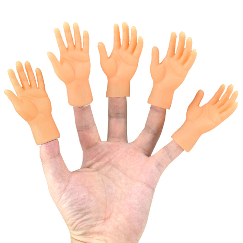 Cartoon Funny Finger Hands And Finger Feet Set Creative Finger Toys For Children Educational Joke Fun Hand Horror Model Toys
