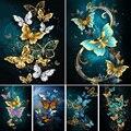 Набор для алмазной вышивки стразы, картина с бабочками 5D «сделай сам», с животными, мозаика, украшение для дома