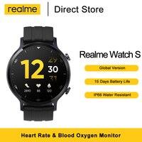 Versión Global verdadero yo reloj S reloj inteligente 1,3 de brillo automático, pantalla táctil de Monitor de oxígeno en sangre IP68 resistente al agua
