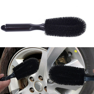 Vehicle Wheel Brush Washing Car Tire Rim Cleaning Handle Brush Tool For Car Truck Motorcycle Bicycle Auto Car Brush Tool