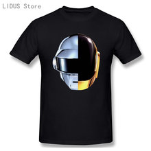 T-shirt Homme Blanc - Daft Punk Casque Harder Better Faster Stronger Musique Tee Shirt Mens 2019 New Tee Shirts Printing
