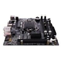H55 LGA 1156 Motherboard Socket LGA 1156 Mini ATX Desktop image USB2.0 SATA2.0 Dual Channel 16G DDR3 1600 for Intel|Motherboards| |  -