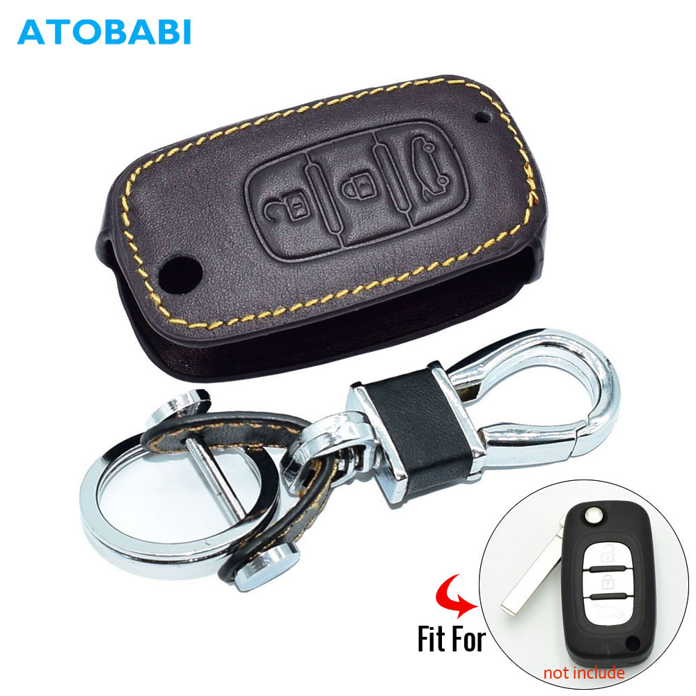 Real Leather Car Key Case For LADA Sedan Largus Kalina Granta Vesta X-Ray XRay Remote Cover Keychain Holder Bag Auto Accessories