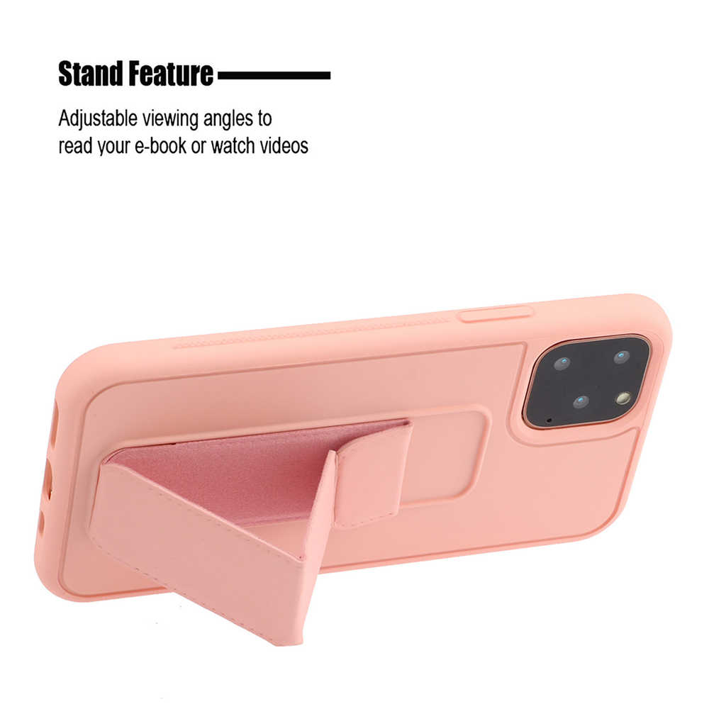 Для iPhone 11 Pro 11 Pro Max Чехол Мягкий ТПУ защитный чехол с подставкой и ремешком для рук для iPhone X XS Max XR 6 6S 7 8 Plus