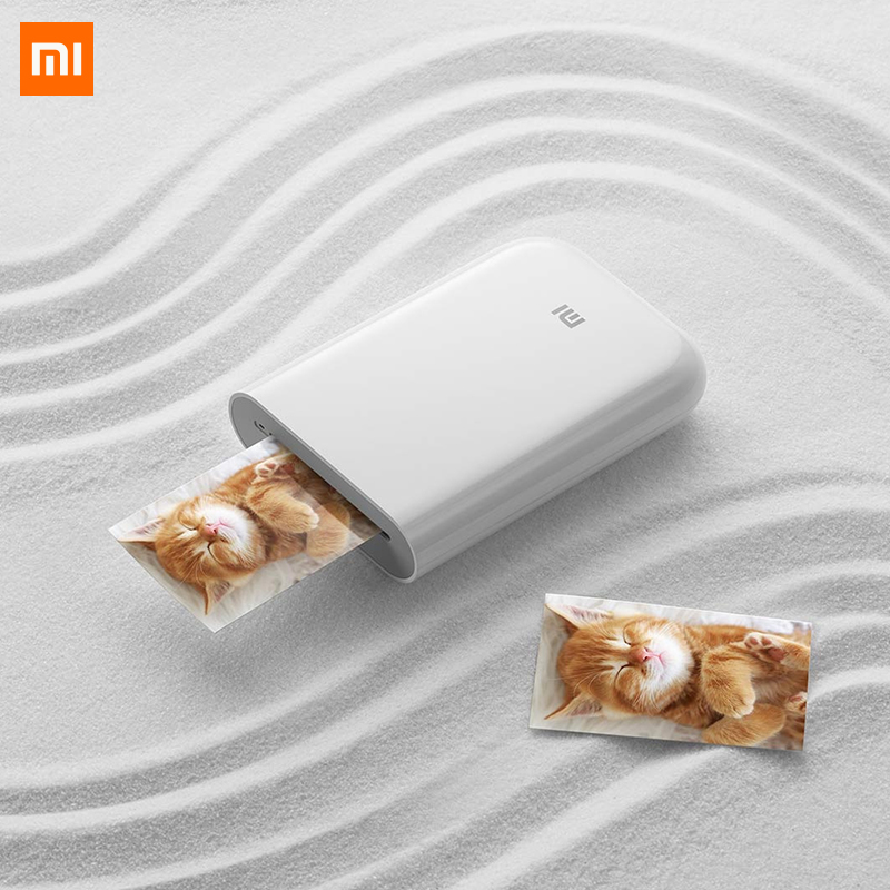 Xiaomi mijia ar impressora 300dpi foto portátil mini bolso com diy share 500 mah impressora de imagem bolso trabalho com mijia