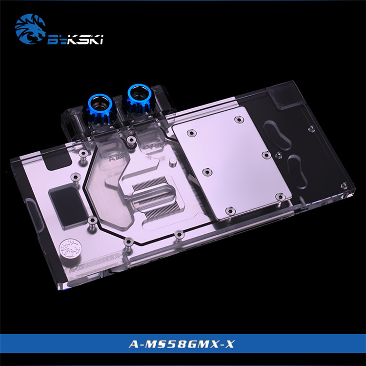 Bykski GPU Water Block for MSI RX580 RX480 Gaming  X8G 8G 4G Armor Full Cover  A-MS58GMX-X