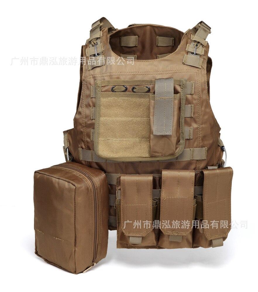 Ding Hong 1680D Tactical Vest Outdoor Combat Multi-functional Waistcoat Fast Demoulding Steel Wire Molle Amphibious Vest