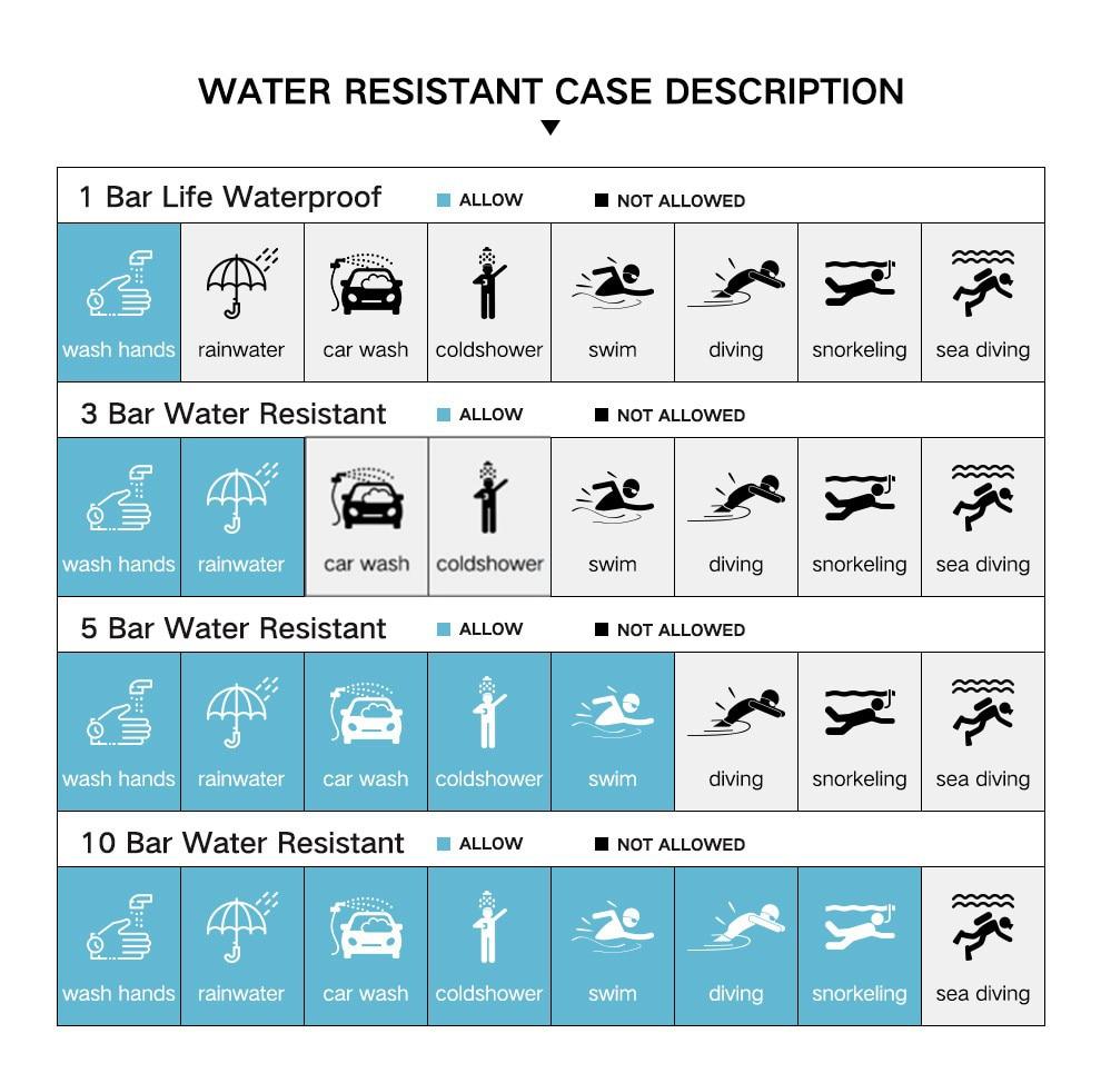 criativo relógio à prova dwaterproof água aço