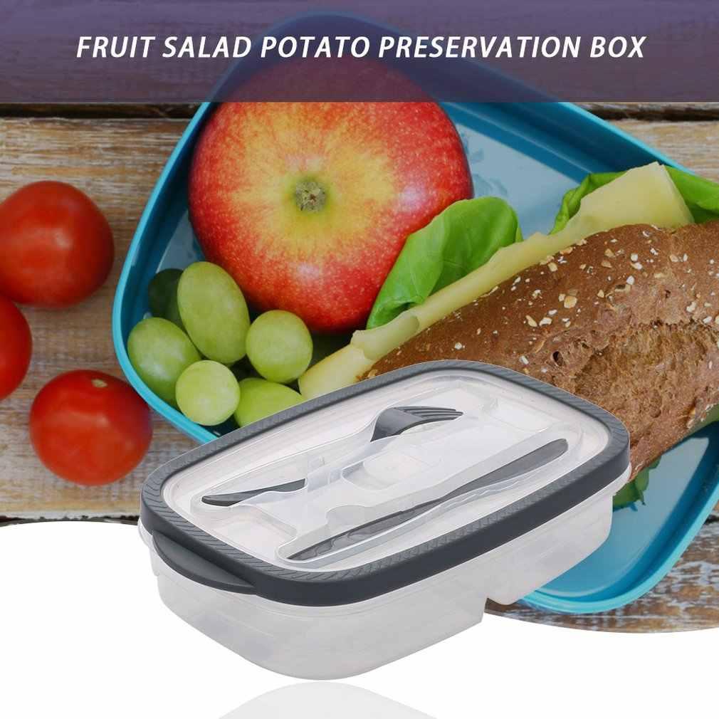 Fruit Salad Bento Storage Box Rectangular Plastic Lunch Box Sealed Box Food Box Easy To Carry Portable