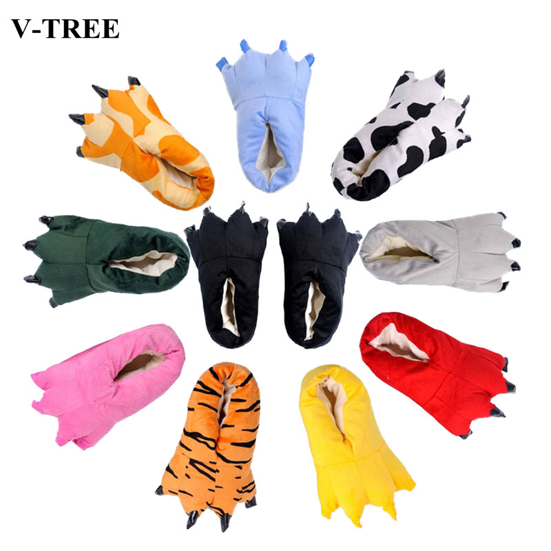 Dinosaur Claw Slippers Children Soft Slippers For Men Women Home Boots Kids Paw Slippers Parent-child Cartoon Shoes