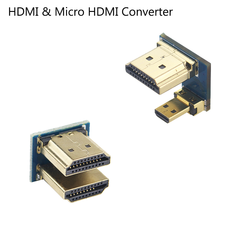 HDMI To Micro HDMI Adapter Male To Male Converter 1080P For 5 Inch 3.5 Inch HDMI LCD Touchscreen