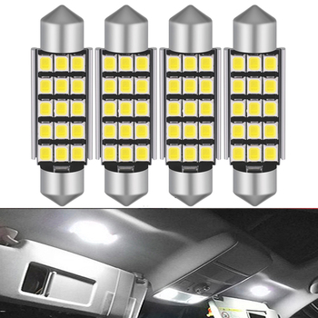 4X C5W LED 41mm White CANBUS Bulbs 2835SMD Interior Lights Dome License Plate Light For BMW E39 E36 E46 E90 E60 E30 E53 E70 12V image
