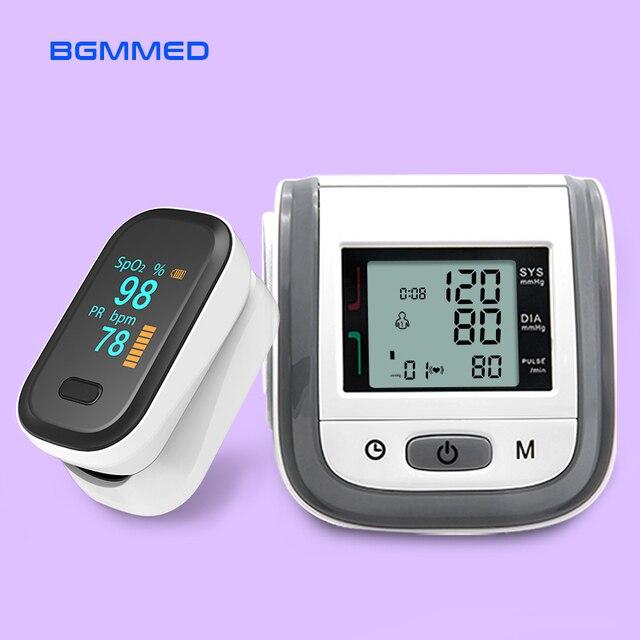 BGMMED Medical Fingertip Pulse Oximeter & LCD Wrist Blood Pressure Family Health Care Travel Packages