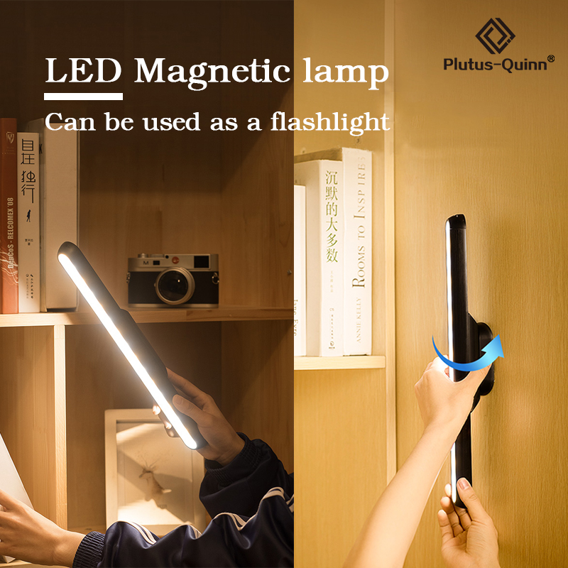 2020 New Dropship Hanging Magnetic Wall Lamp 16PCS LED Lamp Chargeable And Eye-protect Wall Lamp Stepless Dimming Night Lights