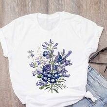 Модные летние женские топы с цветочным принтом и графическим