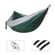 Single Double Thicken Hammock Adult Outdoor Backpacking Survival Hunting Travel  Sleeping Bed Portable With 2 Straps 2 Carabiner