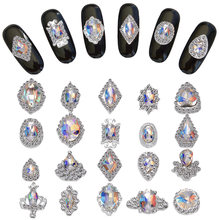 100 шт k9 дизайн ногтей diy драгоценные камни с ab переливающиеся