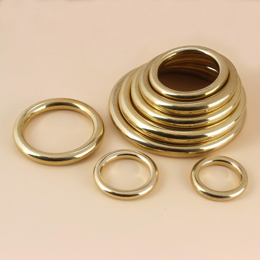 Цельное Латунное литое уплотнительное кольцо, бесшовная круглая пряжка для лямки, ремешок для кожаных сумок, быстрое высокое качество