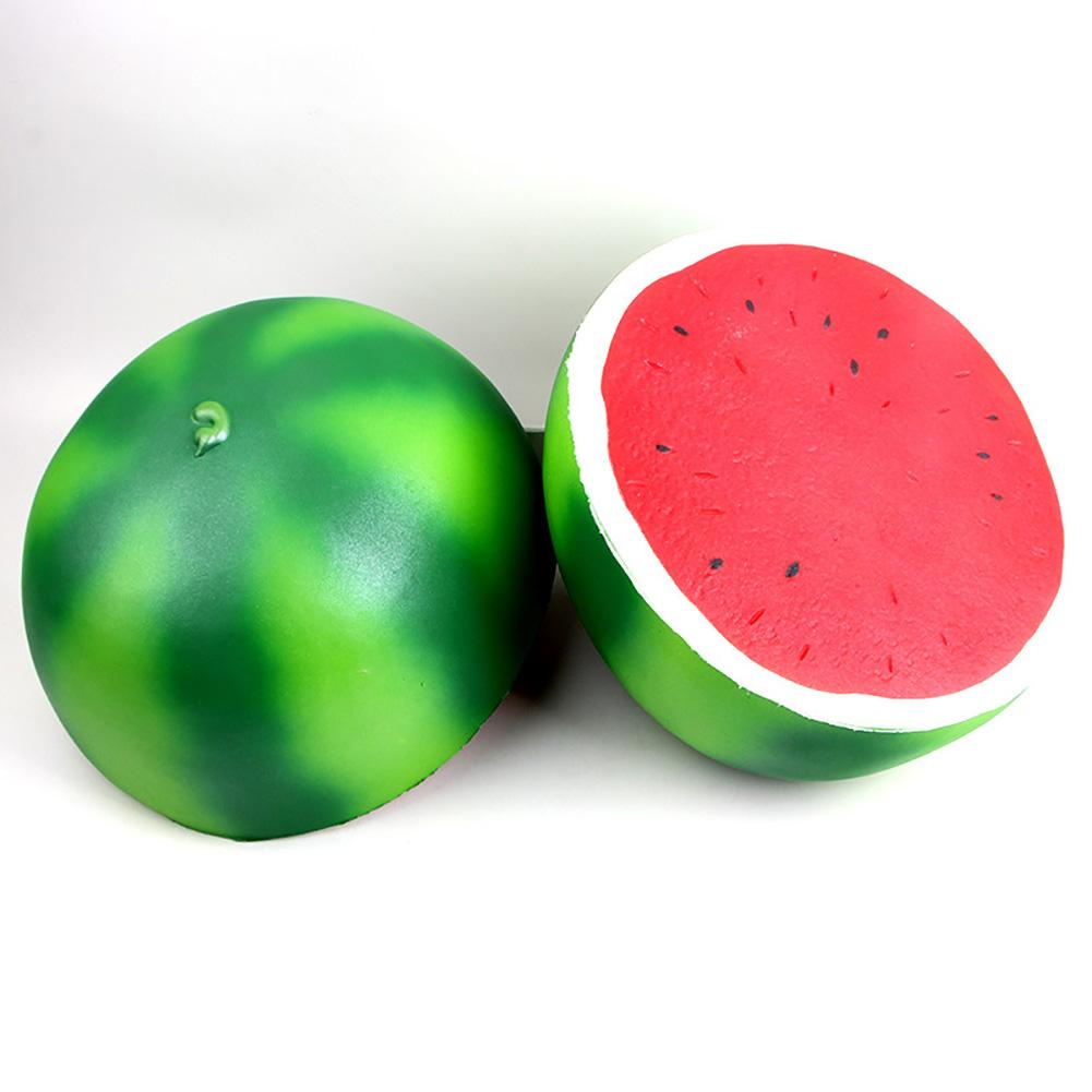 Jumbo Squishys Scented Watermelon Squeeze Slow Rising Decompression Toy Decor Foams Ball Hot Planet Watermelon Ball