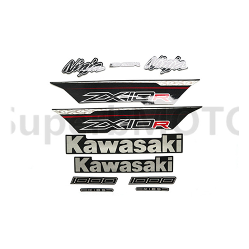 3M Stickers Decal for Kawasaki Ninja ZX10R ZX 10R 2011 2012 2013 Whole Car Sticker-in Decals & Stickers from Automobiles & Motorcycles    1