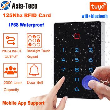 Wodoodporna WiFi Bluetooth TuyaApp podświetlenie dotykowy 125khz karta RFID klawiatura kontroli dostępu WG 26 wyjście Alarm przeciw demontażu tanie i dobre opinie LUCKING DOOR NONE CN (pochodzenie) K6 T12 Bezpieczne działanie w razie uszkodzenia Brak DC12V 2000 users 0-10cm 100mA