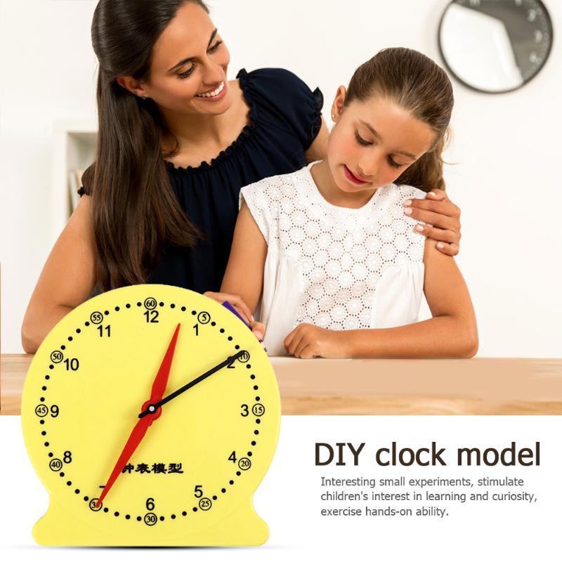 Kids DIY Clock Model Kit Exercise Judgment And Discrimination School Teaching Educational Assemble Montessori Toys