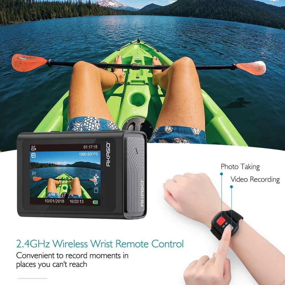 Akaso Dũng Cảm 6 4K 20MP Camera Hành Động Wifi Điều Khiển Giọng Nói EIS 30 M Dưới Nước Máy Camera Chống Thấm Nước 6X Zoom Từ Xa điều Khiển Thể Thao Cam