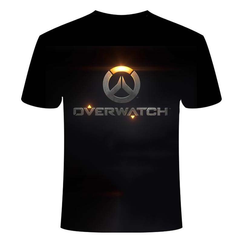 2020 Overwatch Summer Men's Fashion Game Battlefield 3D Digital Printing Casual T-Shirt Oversize Short Sleeve Top 1