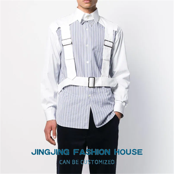 S-6XL!!New style fashion men all with four seasons casual shirt youth fashion hollowed-up long-sleeved shirt hair stylist blouse