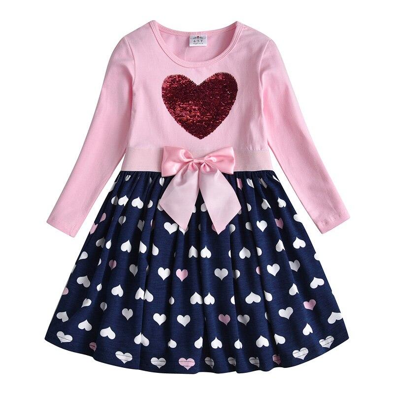 H3df19d46d6f8408eb0bd8eea8d51aa28p VIKITA Girls Cotton Dress Long Sleeve Children Patchwork Vestidos Kid Dresses for Girls Clothes Toddlers Cartoon Princess Dress