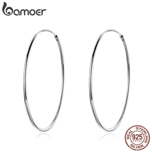 BAMOER 2019 Big Hoop Earrings