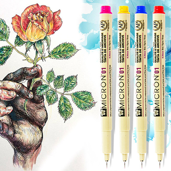 цена на 4/6/8/14 Colors Sakura Pigma Micron Liner Pen Set Design Drawing Manga Sketch Art Markers Fine liner Pen Stationery Supplies