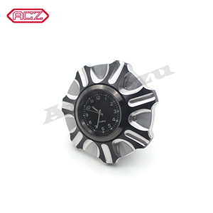 Image 5 - CNC Aluminum Motorcycle Fuel Gas Tank with Clock for Harley Davidson Sportster XL 1200 883 X48 Dyna Decorative Oil Cap
