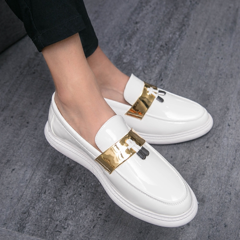 Super Fashion Men's Flats Loafers Shoes Casual Breathable Slip On Male Leather Loafer Driving Hairstylis Nightclubs Shoes RA-72
