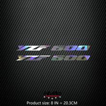 Alta qualidade da motocicleta reflexivo laser capacete almofada do tanque decoração adesivo moto decalques 21cm 7in para yamaha yzf600 yzf 600