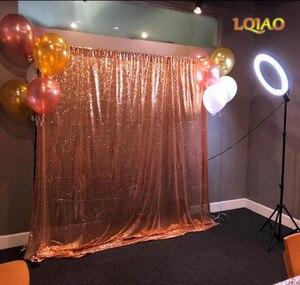 Image 5 - LQIAO 10x10FT fuşya altın gümüş pullu zemin düğün fotoğraf kabini arka planında fotoğraf stüdyosu için/parti/yılbaşı dekoru