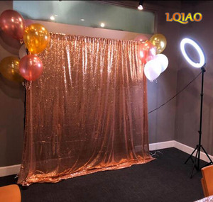 Image 5 - LQIAO 10x10FT פוקסיה זהב כסף נצנצים רקע צילום לחתונה תפאורות צילום סטודיו/מפלגה/חג המולד דקור