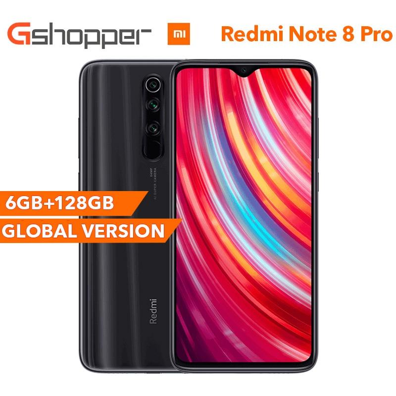 Global Version Xiaomi Redmi Note 8 Pro 6GB RAM 128GB ROM Smartphone 64MP Qaud Camera MTK Helio G90T Octa Core 6.53