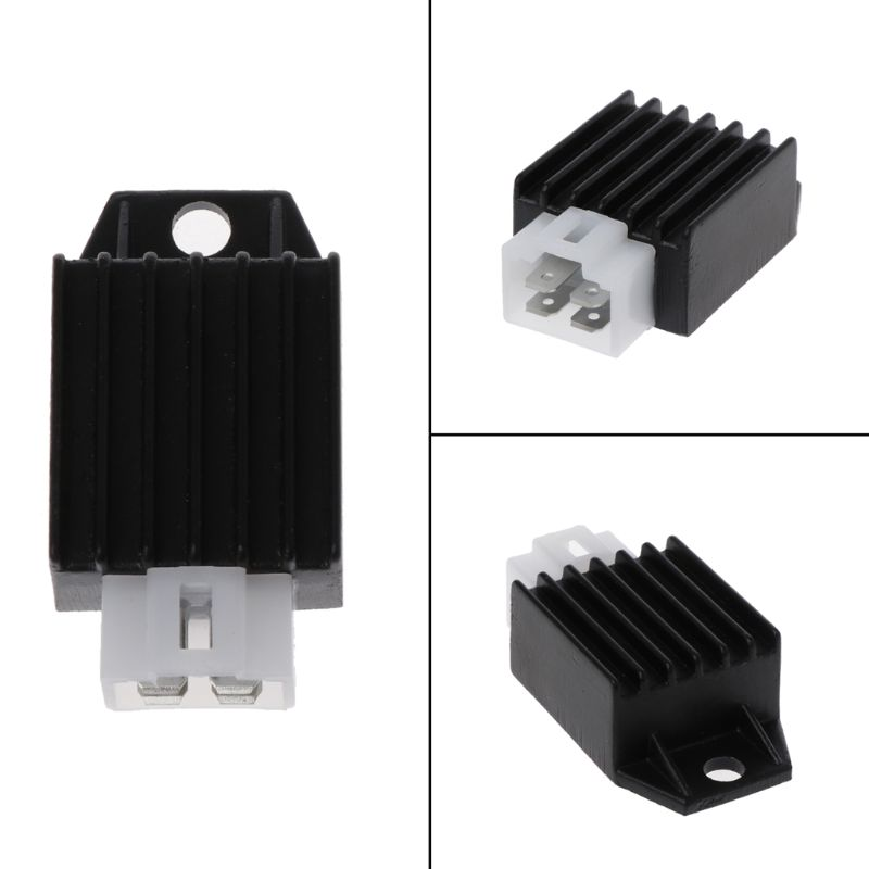 12V 4Pin Motorcycle Voltage Regulator Half-Wave Rectification for buggie GY6 50cc 125cc 150cc Moped Scooter